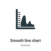 Smooth line chart vector icon on white background. Flat vector smooth line chart icon symbol sign from modern business collection for mobile concept and web apps design.