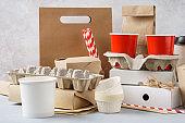 Kraft paper eco-friendly food packaging and tableware.