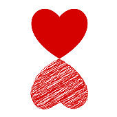 creative red heart art abstract illustration