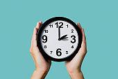 clock being adjusted backward or forward