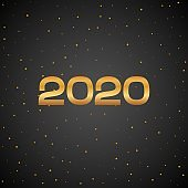 Happy New Year 2020 luxury golden poster. VIP gold gift card or banner. Greeting template mouse new year. Vector illustration eps10