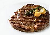 Ribeye Sirloin Steak, Black Angus beef steak , grilled meat