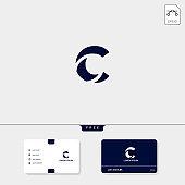 Initial C CC Creative Symbol design template vector illustration