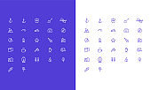 Simple Vector Camping Icons Set