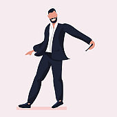 business man taking selfie photo on smartphone camera businessman in formal wear male cartoon character posing in suit flat full length