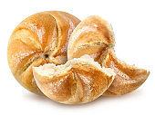 Freshly baked loafs of austrian round bread 'Kaisersemmel'.