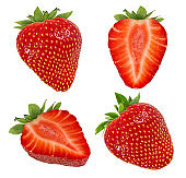 Strawberry isolated on white background with clipping path
