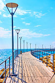 Promenade over the sea in Limassol