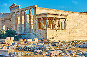 The Erechtheion temple in Athens