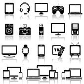 Set of Modern Digital devices icons set