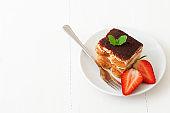 Homemade Tiramisu, Italian style cheesecake