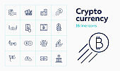 Crypto currency icon set