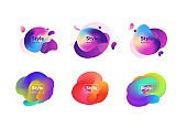 Set of creative multi-colored bubble-shaped objects
