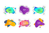 Multi-colored collection of creative shapes