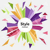 Abstract vector background template. Style. Advertising concept