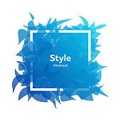 Style abstract template with elements being in motion
