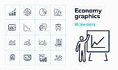 Economy graphics icons