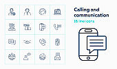 Calling and communication icons