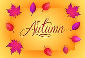 Autumn yellow greeting card design