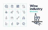 Wine industry icons
