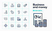 Business and money icons