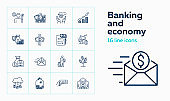 Banking and economy icons