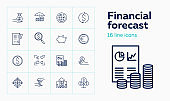 Financial forecast icons
