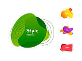 Set of colorful abstract style elements