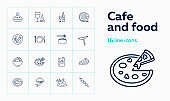 Cafe and food icons