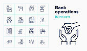 Bank operations icons