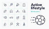 Active lifestyle icon set