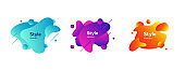 Multicolored elements for modern website design