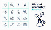 Bio and chemistry icons