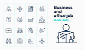 Business and office job icons