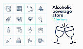 Alcoholic beverage store icons