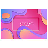 Abstract background. Pink, magenta, purple, violet wavy layers