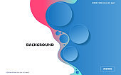 Landing page modern abstract fluid background