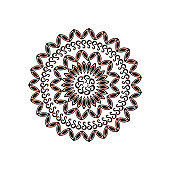 Mandala. Circular ornament. An isolated element for design and coloring on a white background.