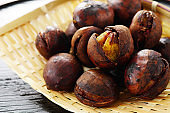 Roasted chestnut.