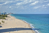 View of the beach and coast in Fort Lauderdale