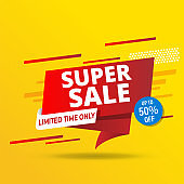 Sale banner template design, Big sale special offer. EPS 10.
