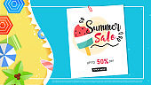Summer sale vector banner graphic vector. EPS 10