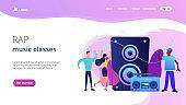 Hip-hop music concept landing page.
