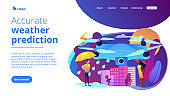 Meteorology drones concept landing page.