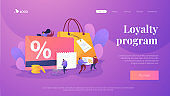 Discount and loyalty card landing page template.