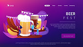 Beer fest concept landing page.