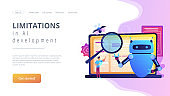 Artificial intelligence regulations concept landing page.