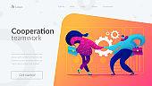 Partnership landing page template.