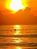 Brilliant sunrise on Atlantic Ocean
