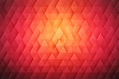 Abstract 3D Geometrical Triangular Red Background